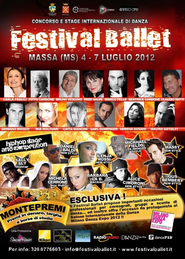 Festival ballet 2012 massa ms segnalato da bellezze for Berti arredamenti srl massa ms