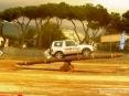 4x4 Fest 2009 - Carrara (MS), 10-11 ottobre 2009 - Mitsubishi Pajero in equilibrio su un ostacolo fulcrato