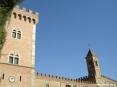 Bolgheri (LI) - La torre di fortificazione e il campanile del paese