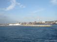 Canale di Piombino (LI) - Il porto. Sullo sfondo la stazione marittima e la fabbrica siderurgica Lucchini