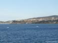 Canale di Piombino (LI) - Centro storico di Piombino con lo sfondo del porto di Salivoli