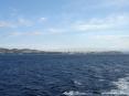 Canale di Piombino (LI) - Da sinistra verso destra la costa del Canaletto verso la Tolla passando per piazza Bovio e il porticciolo di Marina
