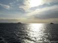 Canale di Piombino (LI) - Pittoresca foto. Partendo da sinistra:golfo di Follonica,promontorio di Punta Ala,Isolotto di Cerboli,isolotto di Palmaiola,promontorio dell
