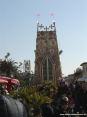 Carnevale di Viareggio (LU) 2008 - La parte posteriore della torre del carro In nome di chi... terzo classificato.