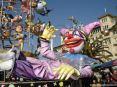 Carnevale di Viareggio (LU) 2008 - Un grande maschera se la ride di fronte ai politici scimmia appesi al carro! Jacopo Allegrucci - Marameo!!!
