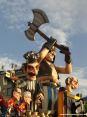 Carnevale di Viareggio 2008 - Il boia e i giudici magnificamente realizzati nel carro di: Luigi Verlanti e F.lli Bonetti - Troppi grilli per la testa