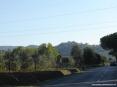 Castagneto Carducci (LI) - Il paese visto dalla strada che arriva da Bolgheri