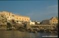 Isola di Pianosa (LI) - Vista dal mare di del carcere di massima sicurezza ormai in disuso.