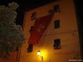 Luminara San Ranieri 2008 Pisa (PI) - Un enorme stendardo col simbolo della citt� di Pisa