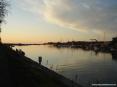 Marina di Cecina (Cecina Mare) (LI) - Le gru della zona di alaggio dei cantieri navali si stagliano nel cielo come gli alberi delle barche a vela