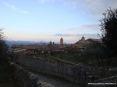 Montalcino (SI) - Vista con le spalle alla cattedrale di via Costa Spagni verso i tetti del paese.
