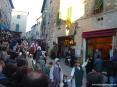 Sagra di Suvereto 2007, cinghiale, arte, cultura e folclore - Il corteo storico scende verso piazza Vittorio Veneto