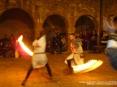 42a Sagra di Suvereto 2009, Suvereto (LI) - Concitato scontro a colpi di spada e torce infuocate dei Cavalieri di Ildebrandino nell