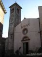 Sassetta (LI) - Il proseptto ed il campanile della chiesa di Sant