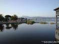 Torre del Lago Puccini, Viareggio (LU) - Panorama del lago di Massaciuccoli in direzione nord verso il Gran Teatro all