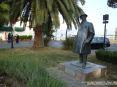Torre del Lago Puccini, Viareggio (LU) - Il monumento in bronzo a Giacomo Puccini realizzato da Paul Troubetzkoy nel 1925. Il monumento è posto in un