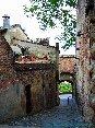 Certaldo(FI) - Via Costarella, un caratteristico vicolo del paese. In fondo alla via c