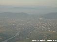 Pisa (Pi) - Foto aerea panoramica della città. Davanti il fiume Arno col ponte dell