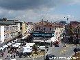 Piombino (LI) - Piazza Gramsci con la nuova configurazione in costruzione. Dietro corso Italia e via Carlo Pisacane